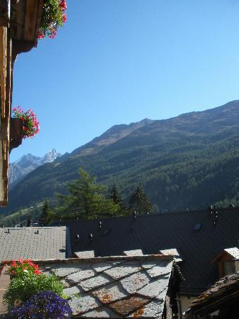 View of the mountains from our room, Hotel Romantica