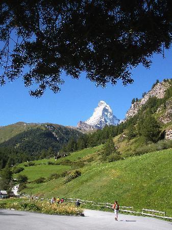 Hotel Romantica: View from start of Glacier Paradise Gondolas