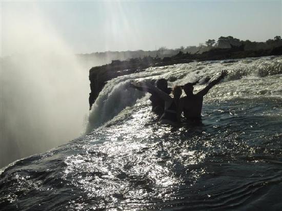 Devil's Pool: On the Edge of Victoria Falls!!!!