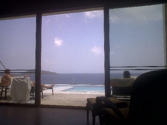 Six Senses Spa at Porto Elounda Crete: view over Elounda Bay