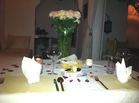 Riad les Orangers d'Alilia Marrakech: Wonderful dinner at arrival