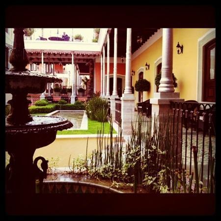Villa Maria Cristina Relais & Chateaux: desayunando...