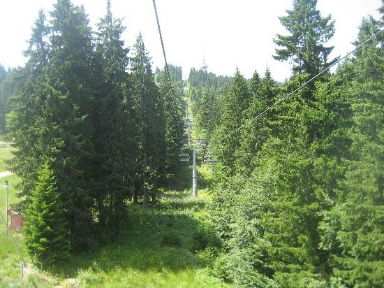 Dafovska Hotel: using the nearby ski-lift in the summer is fun