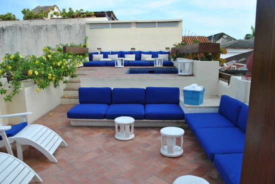 Hotel Quadrifolio: the roof terrace
