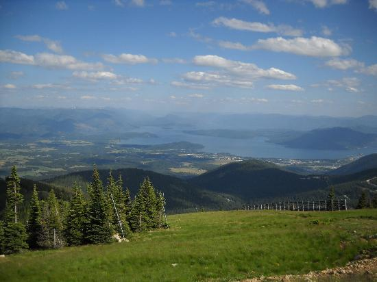 Schweitzer Mountain Resort Lodging: A view from the top of the Mountain!
