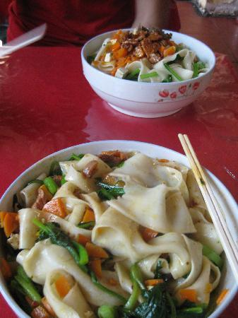 Super 8 (Urumqi Bayinhe): Awesome handmade noodles across the road