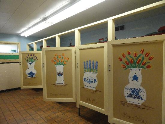 Nelis' Dutch Village: The adorable Ladie's restroom