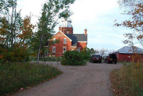 Big Bay Point Lighthouse Bed and Breakfast: As you drive up....