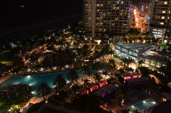 Fontainebleau Miami Beach Night View From The