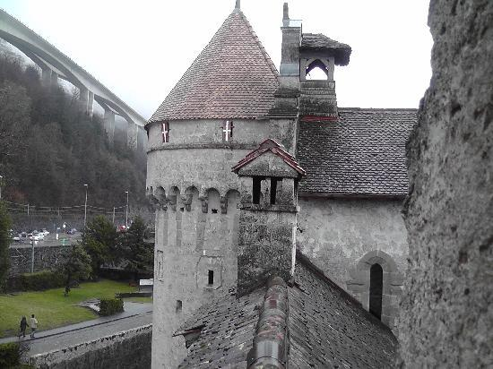 Chateau de Chillon: One of the towres of the castle