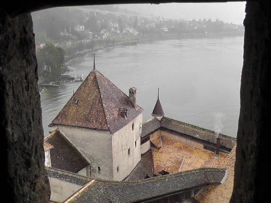 Chateau de Chillon: A part of the castle from one of the towers