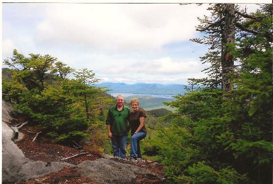 Lodge at Moosehead Lake: View from Moose Mountain - the lodge is across the lake in the distance.