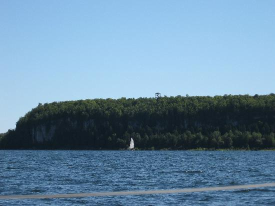 Sail Door County: View of Eagle Tower, Peninsula State Park, Gibralter, WI