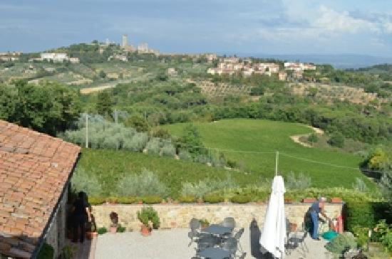 Podere Sant'Elena: View of the town from our room