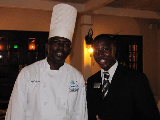 Sandals Royal Plantation: Head Chef Peter and our butler Rochester