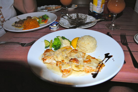 Grouper picture of bone fish bar grill sandys parish for Fish and bone restaurant