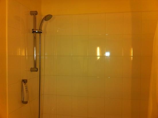 Ibis Montpellier Centre Comedie: douche propre mais pas fan de rideau dans la baignoire