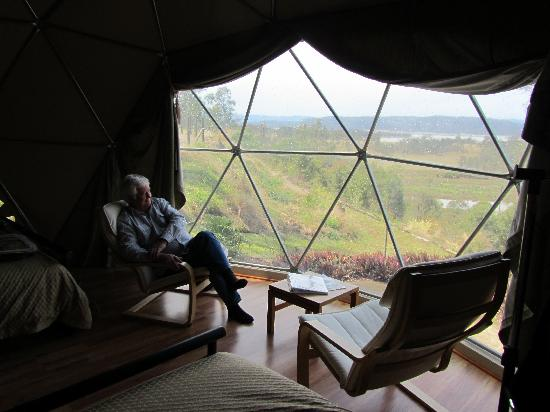 Weltevreden Domes Retreat: Grazza relaxing