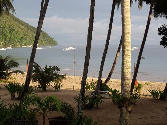 Sabang, Filippine: view from our 2nd floor room