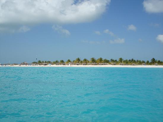 Playa Paraiso: Playa Sirena desde el triciclo de agua