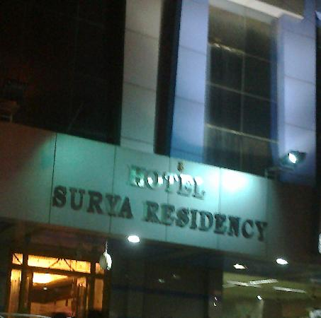Front view of Hotel Surya Residency, Hyderabad