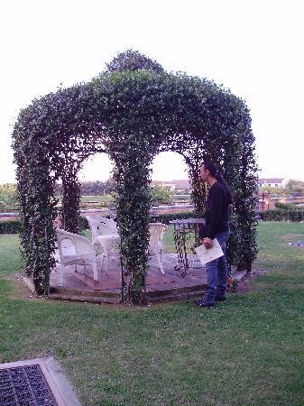 Bevilacqua, Italia: il gazebo nel giardino