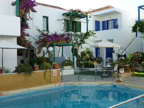 Hotel Konaki: Yard and the swimming pool