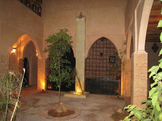 La kasbah d'Ouzoud : Patio