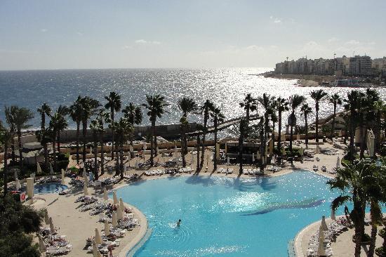 โรงแรมฮิลตันมอลท่า: View from room's balcony- Hilton Malta