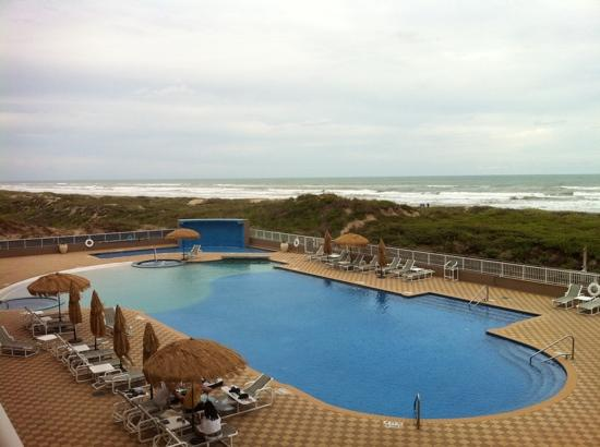Superior Hilton Garden Inn South Padre Island: View From Our Balcony
