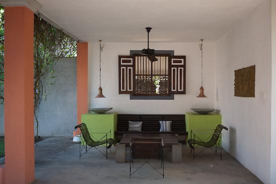 Casa Siena: one of the cosy outdoor sitting corners