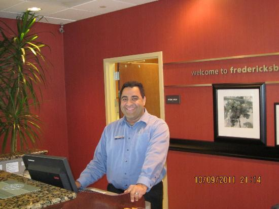 Hampton Inn & Suites Fredericksburg: Andrew Capeci, Front Office Manager