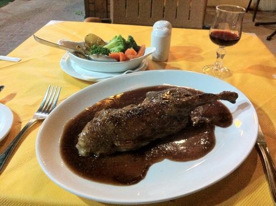 Churchill's Bar and Restaurant : roast half duck in a port wine sauce mmmmmmmm