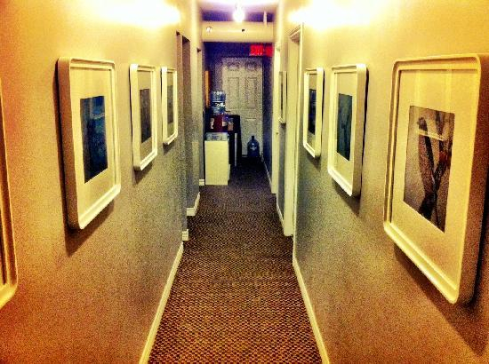 INDEXG B&B: Hallway with work from Local Artists