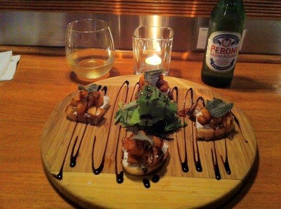 Streamliner Diner: Wild squash bruschetta