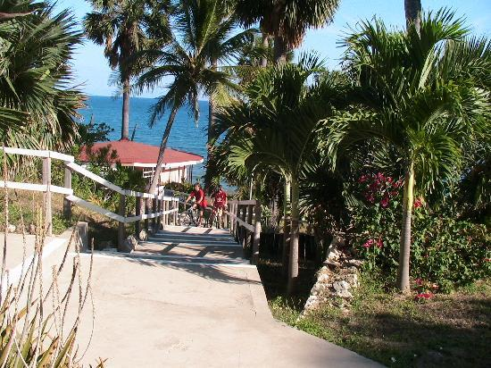 Treasure Beach Hotel: Walkway to Gazebo and Beach