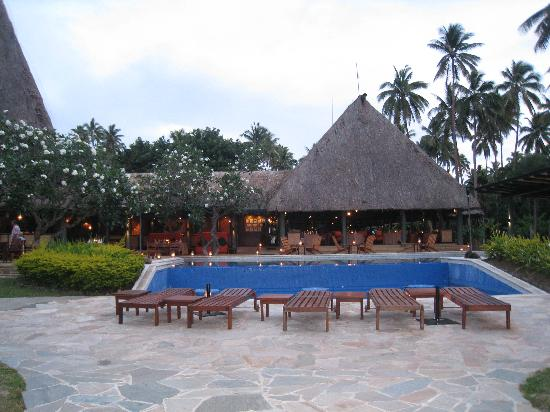 Jean-Michel Cousteau Resort: View of Adults pool back to main area