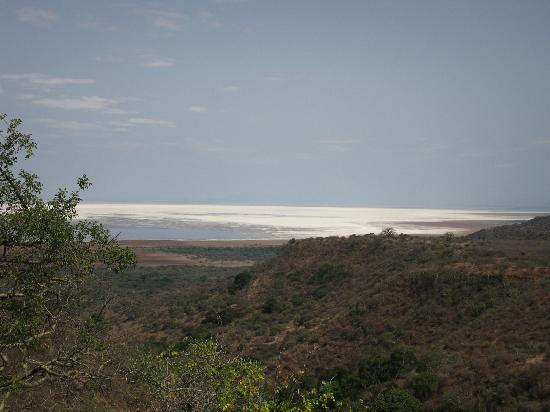 Escarpment Luxury Lodge: lake manyara from our room