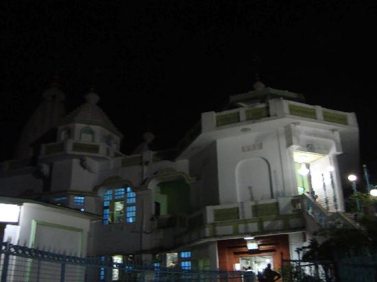 ISKCON Temple: ISKON temple, Bhubaneswar, front view at night