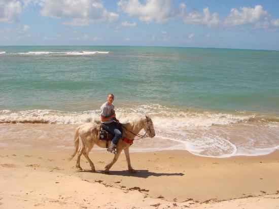 UXUA Casa Hotel & Spa : Riding in Trancoso beach..