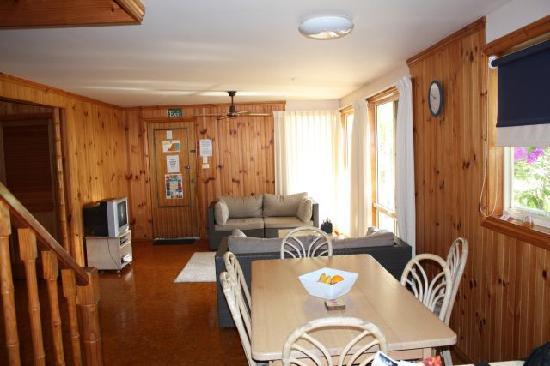 Living/dining area in villa at Village Resort