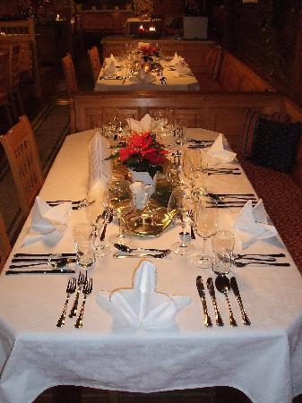 Hotel Turracherhof: Festlich gedeckter Tisch