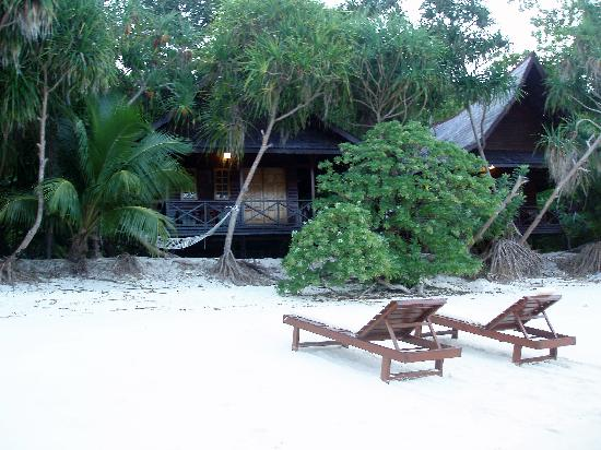 Lankayan Island Dive Resort: view of room from lagoon