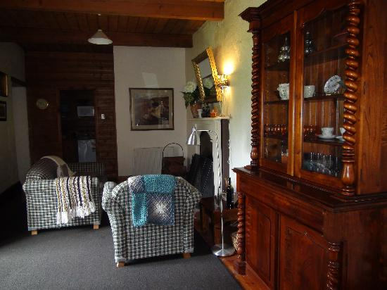 Merrijig Inn: our sitting room by the fire