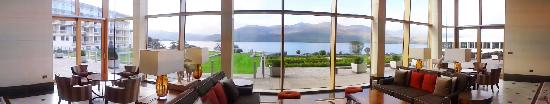 The Europe Hotel & Resort: From the Lobby Great Room looking out to the lake.