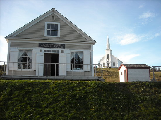 Highland Village : The store and the church