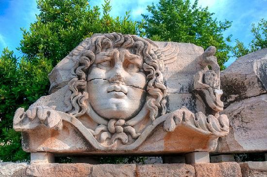 Didim, Turkey: Medusa head at Didymaion