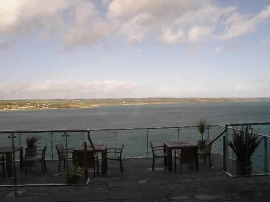 Ardmore, Ierland: The view from the restaurant