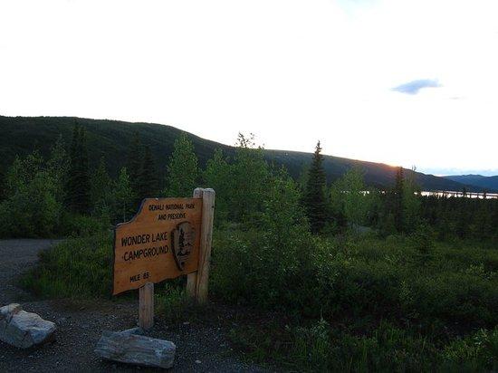 Wonder Lake: Entrance at sunset