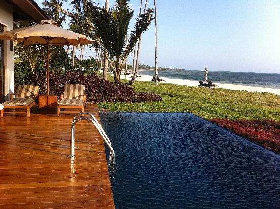 The Residence Zanzibar : Our view and plunge pool